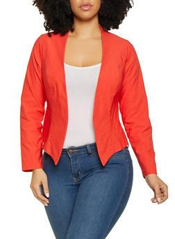 Plus Size Stretch Blazer - 1932068518516