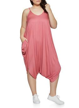 Plus Size Cami Harem Jumpsuit - 1933062706275