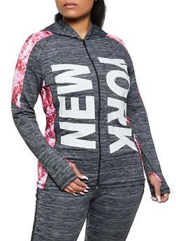 Plus Size New York Active Sweatshirt - 1942038345630