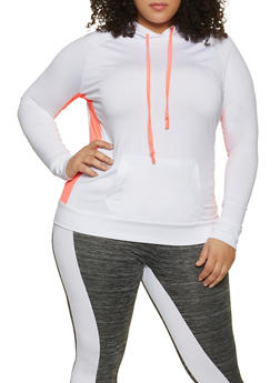 Plus Size Pullover Active Sweatshirt - 1942038347670