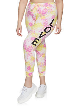 Plus Size Love Tie Dye Joggers - 1951001440081