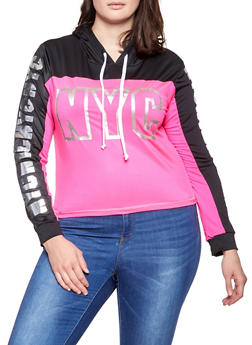 Plus Size NYC Graphic Active Sweatshirt - 1951038340063