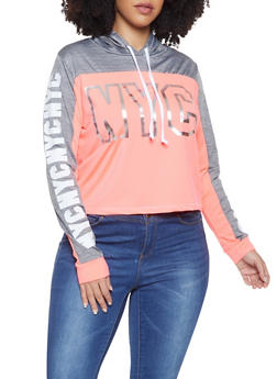 Plus Size NYC Graphic Active Sweatshirt - 1951038340063