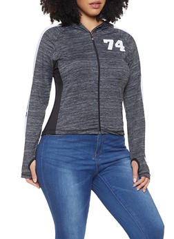 Plus Size Love Graphic Active Sweatshirt - 1951038340607