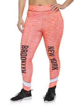 Plus Size Brooklyn Color Block Active Leggings - 1951038340762