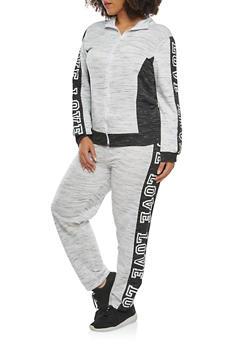 Plus Size Love Graphic Zip Up Sweatshirt - 1951038340858