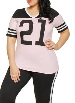 Plus Size 21 Graphic Tee - 1951038341731