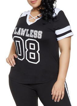 15d0e627da4 Plus Size Flawless Graphic Tee - 1951038341737