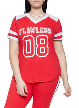 Plus Size Flawless Graphic Tee - 1951038341737