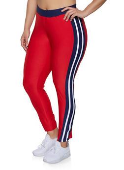 Plus Size Color Block Active Pants | 1951038341742 - 1951038341742