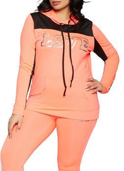 Plus Size Love Activewear Sweatshirt - 1951038341745