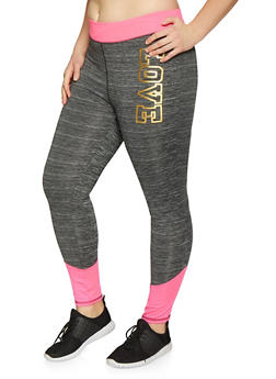 Plus Size Love Activewear Leggings - 1951038341746