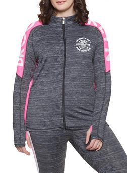 Plus Size Brooklyn Graphic Activewear Sweatshirt - 1951038341749