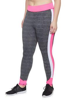 85ea6f27c7c090 Plus Size Color Block Activewear Leggings | 1951038341750 - 1951038341750