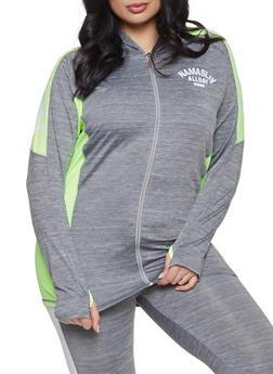 Plus Size Namaslay Graphic Marled Sweatshirt - 1951038341751