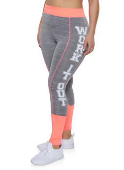 Plus Size Work It Out Active Leggings - 1951038341756