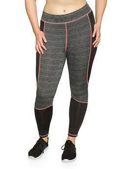 Plus Size Color Block Activewear Leggings | 1951038341762 - 1951038341762