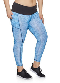 Blue 4X Leggings