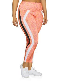 Plus Size Printed  Activewear Leggings - 1951038341768