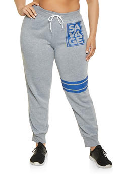 Plus Size Savage Graphic Joggers - 1951038343044