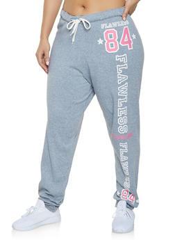 Plus Size Fleece Lined Flawless Sweatpants - 1951038343444