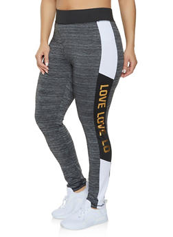 Plus Size Love Activewear Leggings | 1951038343607 - 1951038343607