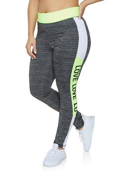 Plus Size Love Activewear Leggings - 1951038343607