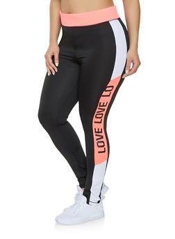Plus Size Love Activewear Leggings - 1951038343607