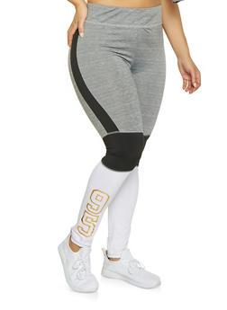 Plus Size Love Active Leggings - 1951038343612