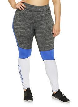 Plus Size Love Active Leggings - Multi - Size 1X - 1951038343612