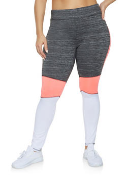 Plus Size Love Active Leggings - 1951038343612