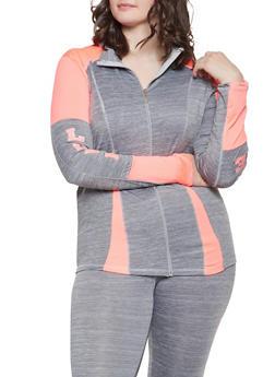 Plus Size Love Graphic Activewear Sweatshirt - 1951038343614