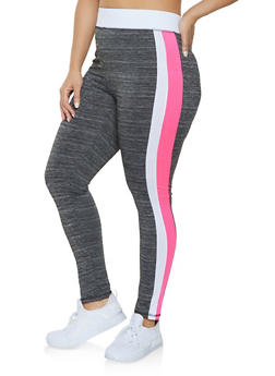 Plus Size Marled Active Leggings - 1951038343617