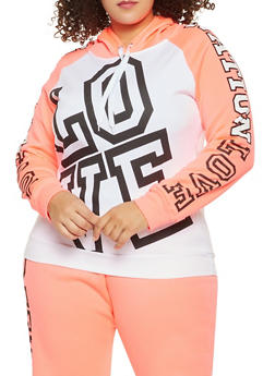 Plus Size Love Nation Graphic Sweatshirt - 1951038343703