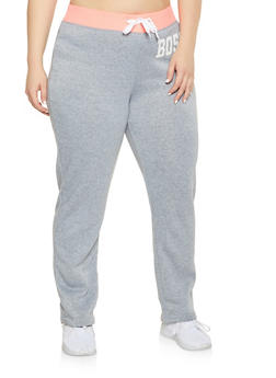 Plus Size Boss Graphic Sweatpants - 1951038343712