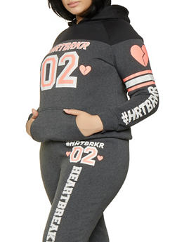 Plus Size HRTBRKR Graphic Sweatshirt - 1951038343724