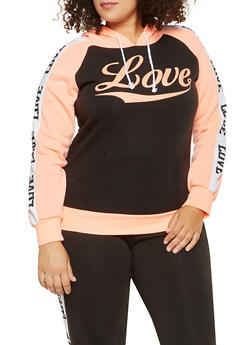 Plus Size Love Graphic Sweatshirt - 1951038343726