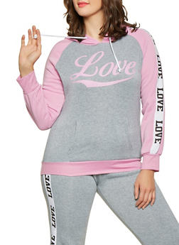 ff4526820518a Plus Size Love Graphic Sweatshirt - 1951038343726