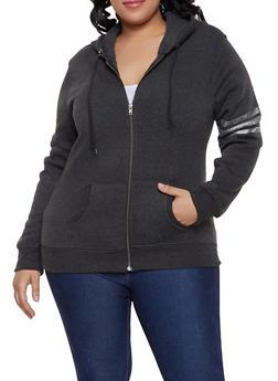 Plus Size New York Hooded Sweatshirt - 1951038343733