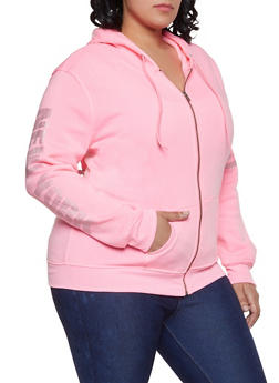 Plus Size New York Hooded Sweatshirt - 1951038343733