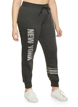 Plus Size New York Graphic Joggers - 1951038343734