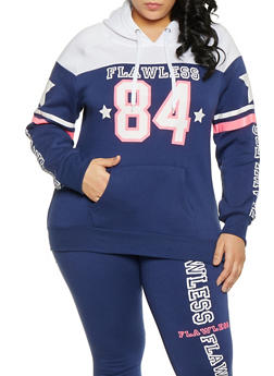 e82494c4b4ec1 Plus Size Flawless Hooded Sweatshirt - 1951038343743