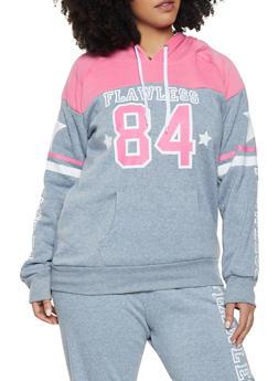 Plus Size Flawless Hooded Sweatshirt - 1951038343743