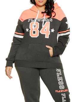 Plus Size Flawless Hooded Sweatshirt - 1951038343743