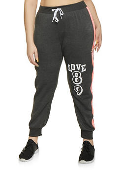 Plus Size Love 89 Joggers - 1951038343745