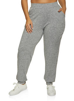 Plus Size Pintuck Joggers - 1951038347335