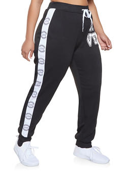 Plus Size Love Tape Sweatpants - 1951038347374