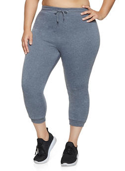 Plus Size Sherpa Lined Joggers - 1951038347401