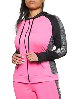 Plus Size Slay All Day Active Zip Top - 1951038347590