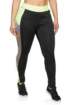 Plus Size Slay All Day Active Leggings - 1951038347591